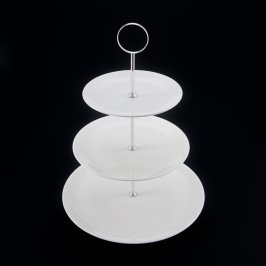 Cake Stand White 3 Tier