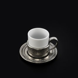 Coffee Cup / Holder & Saucer