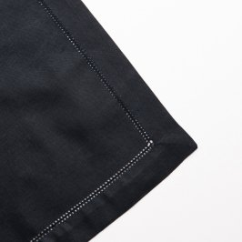Hemstitched Napkin Black
