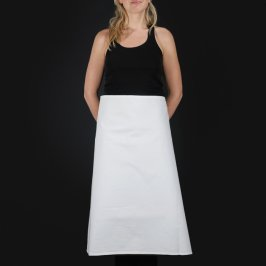 Apron Waist Length White