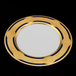 Baroque Gold Band Plate