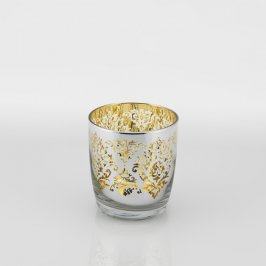 Gold & Platinum Rocks Glass