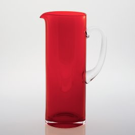 Harlequin Jug Red